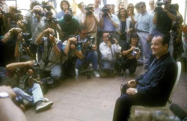 Venice Lido, Venice Film Festival 1992. American actor Joe Pesci at photo call (photo)