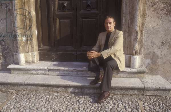 Spoleto (Perugia), Festival of Two Worlds 1980. Composer and founder of the Festival Gian Carlo Menotti/Spoleto, Festival dei due mondi 1980. Il composer Gian Carlo Menotti, festival founder -