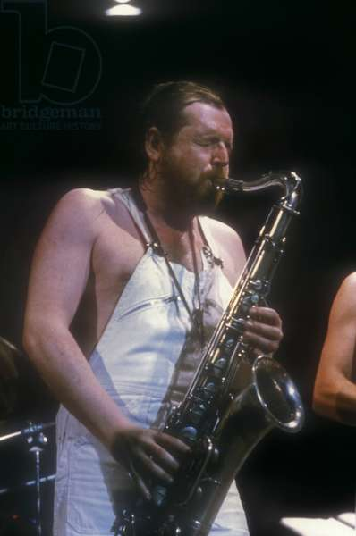 Dutch jazz saxophonist Willem Breuker, about 1988  (photo)