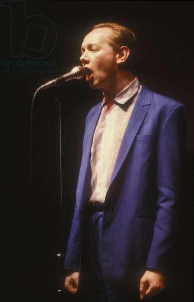 British pop-jazz-rock musician Joe Jackson (about 1985) (photo)