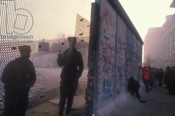 West Berlin, November 1989. The Berlin Wall after the opening of the border between East Germany and West Germany