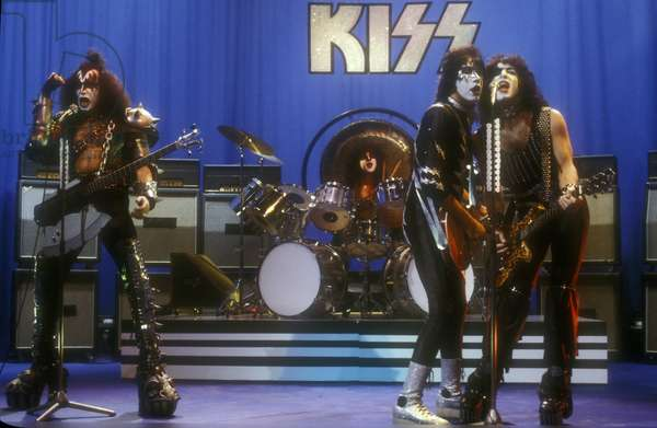 American rock band KISS in concert, Rome about 1980/KISS, rock group, Roma 1980 circa -
