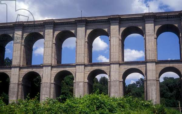 Viaduct in Ariccia on the Appian Way in the Roman Castle area, at short distance south-east to Rome