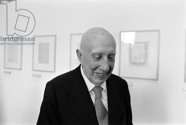 Italian artist Fausto Melotti (about 1980)/L'artista Fausto Melotti (1980) -