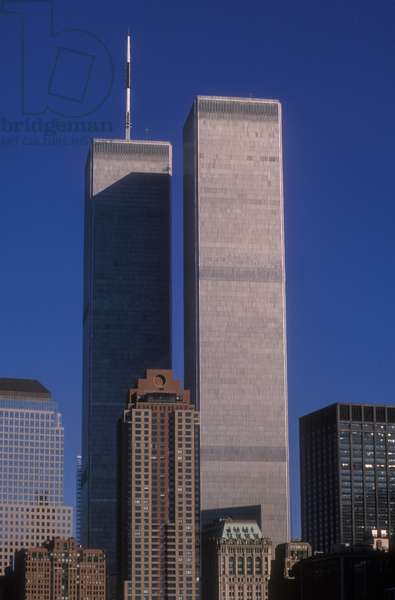 New York, 1989, The twin towers of the world trade center