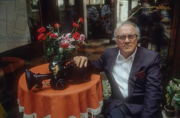 Venice Film Festival 1985. Italian director Federico Fellini (photo)