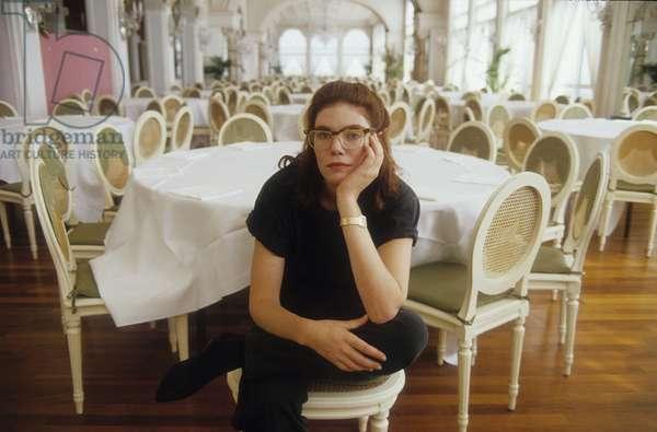 Venice Lido, Excelsior Hotel, Venice Film Festival 1987. American actress Kelly McGillis/Lido di Venezia, Hotel Excelsior, Venice Cinema Mostra. Attractive Kelly McGillis -