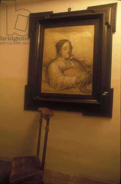 Gioacchino Rossini on his death bed, 1868 (drawing from life by Gustave Dore, exposed in the Rossini's birth house in Pesaro)/Gioacchino Rossini sul letto di morte, 1868 (drawing from life by Gustave Dore esposto nella casa natale di Rossini a Pesaro) -