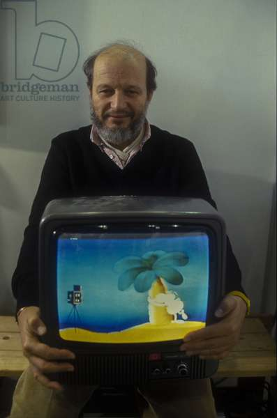 Lucca, 1984. Argentinian cartoonist Guillermo Mordillo/Lucca, 1984. Il disegnatore di fumetti Guillermo Mordillo -