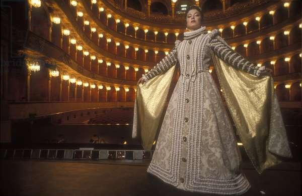 Naples, San Carlo Theater, 1992. Italian opera singer Anna Caterina Antonacci/Napoli, Teatro San Carlo, 1992. The Lirica singer Anna Caterina Antonacci -