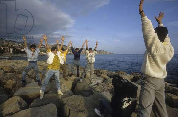 Sanremo Music Festival 1988. Puerto Rican boy band Menudo/Festival di Sanremo 1988. The boy band portoricana Menudo -