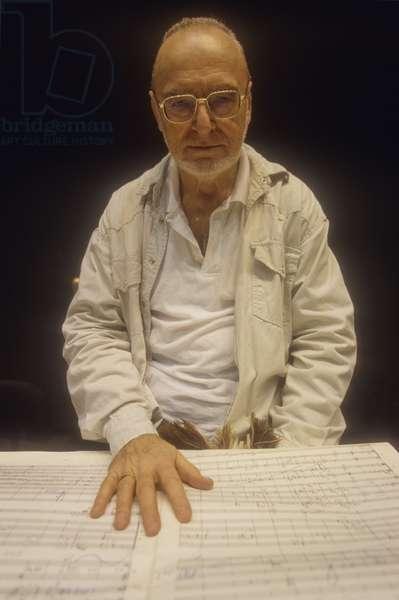Rome, 1998. Austrian conductor Michael Gielen/Roma, 1998. he orchestra director Michael Gielen -