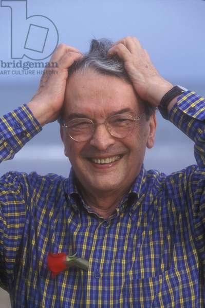 Venice Lido, Venice Film Festival 1998. Italian writer Luigi Meneghello/Lido di Venezia, Mostra del Cinema di Venezia 1998. Lo scrittore Luigi Meneghello -