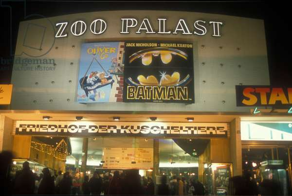 West Berlin 1989. The Zoo Palast Kino, that was the main Berlin International Film Festival (Berlinale) venue from 1957 until 2000