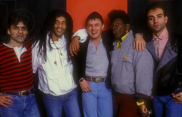 Sanremo Music Festival 1985. Italian pop singer Zucchero (Adelmo Fornaciari) and the Randy Jackson Band (photo)