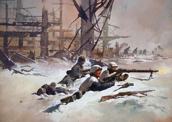 The Battle of Stalingrad (colour litho)