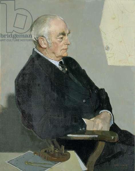 Portrait of Walter Leslie Runciman (1900-1989), Second Viscount of Doxford. (Oil on canvas) 1973
