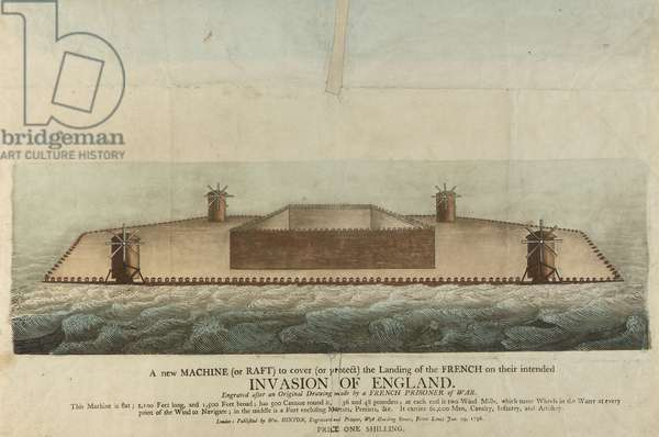 Representation of the French raft supposed to invade Great Britain in 1798 (engraving)