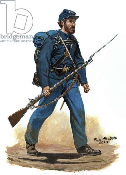 107th Pennsylvania Infantry 1862, 2012 (w/c and gouache on bristol)