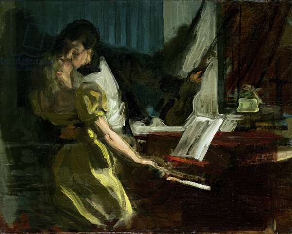 Study for 'The Kreutzer Sonata', c.1901 (oil on canvas)