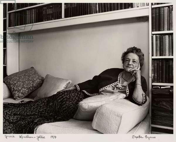 Grace Wyndham Goldie, 1977 (b/w photo)