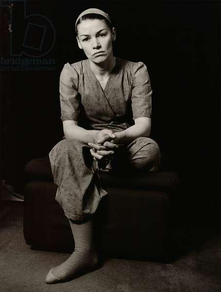 Glenda Jackson, 1977 (b/w photo)