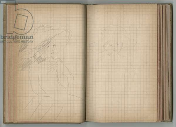 Portrait of a little girl, from a sketchbook, 1885, 1887-88 (pencil on paper)