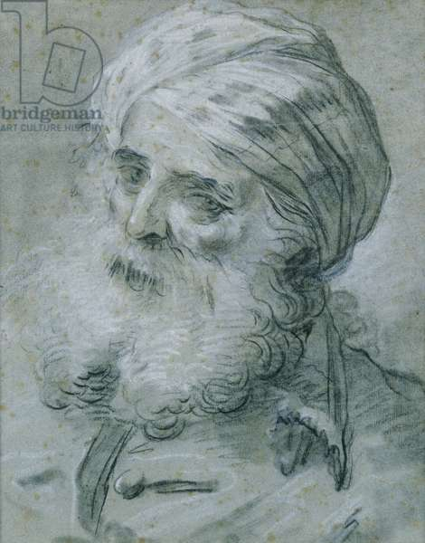 Portrait of an Old Man (chalk on paper)