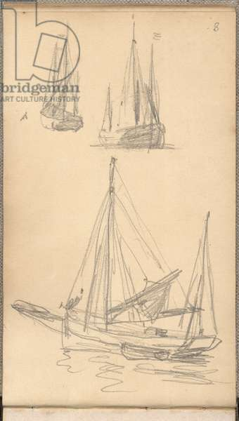 Study of boats (pencil on paper)