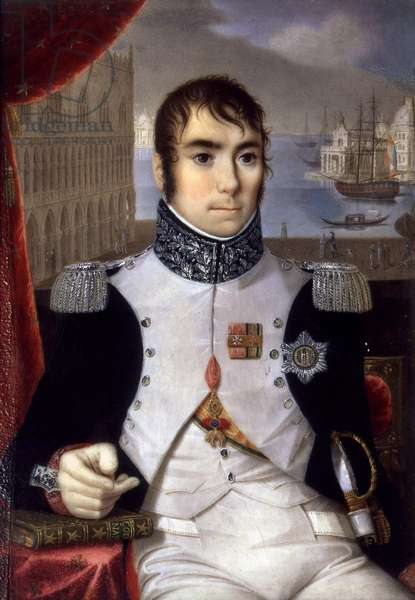 Portrait of Eugene de Beauharnais (1781-1824) Viceroy of Italy in 1805 (oil on canvas)