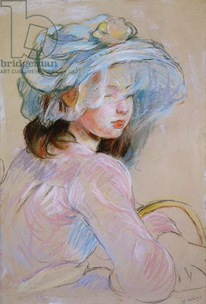 Girl Carrying a Basket, 1891 (pastel on paper)