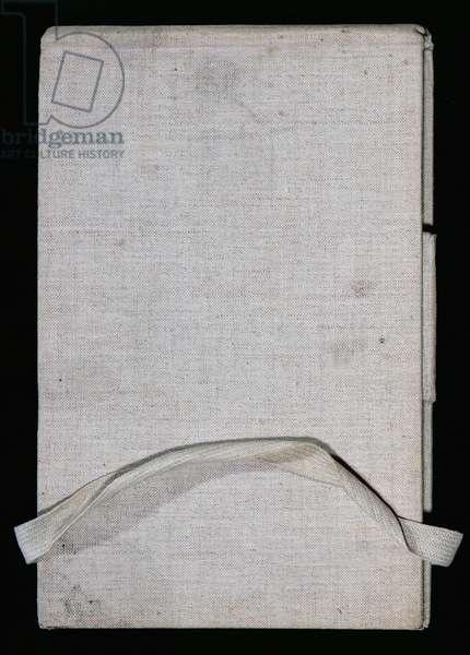 Cover of a sketchbook belonging to Claude Monet (1840-1926)
