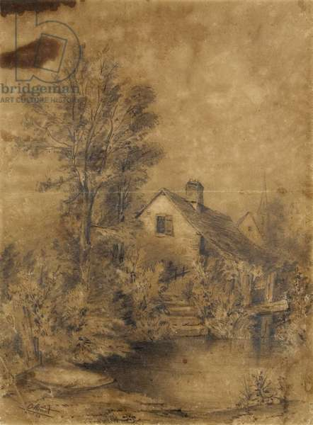 La Lezarde shores, 1856 (black pencil)