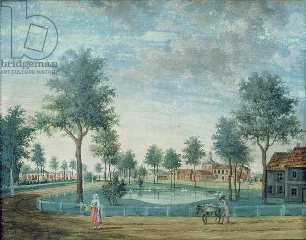 The Farm, Parc du Raincy (gouache on paper)