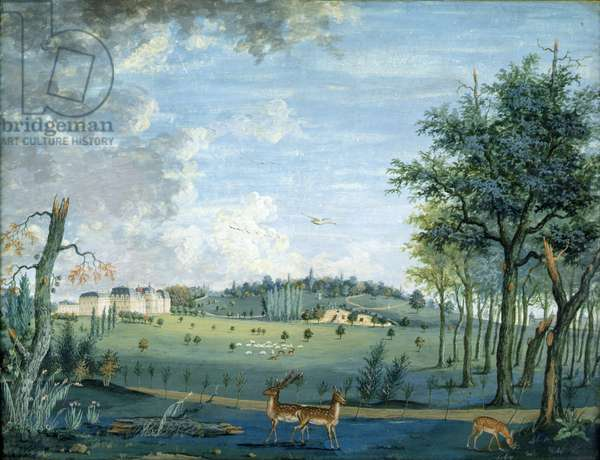 Parc du Raincy, the Chateau and the Rocks, c.1754-93 (gouache on paper)