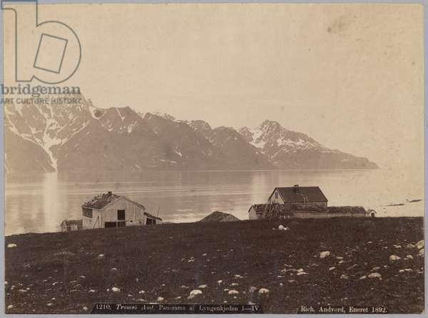 Tromsu Amt, Panorama of Lyngenkjeden, 1892 (albumen print)
