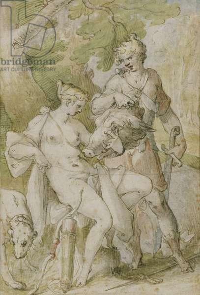 Mythological Scene (oil on canvas)