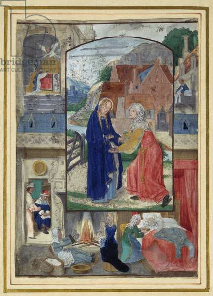 Visitation, from a book of Hours (vellum)