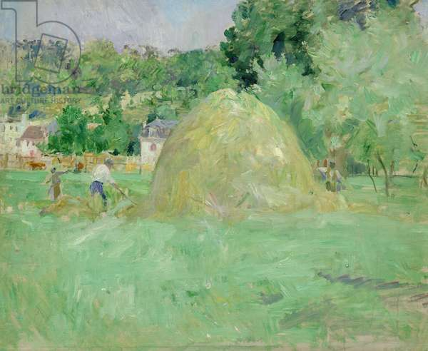 Haystacks at Bougival, 1883 (oil on canvas)