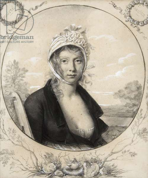 Portrait of the wife of the artist, 1800-01 (pencil and gouache)