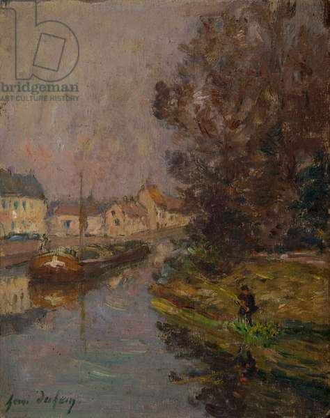 Fisherman at Douai (oil on canvas)