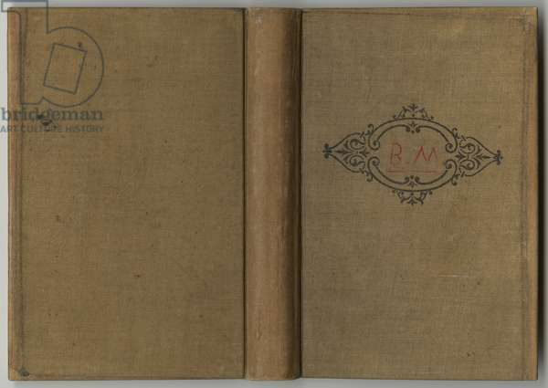 Front and back cover of a sketchbook, 1885, 1887-88