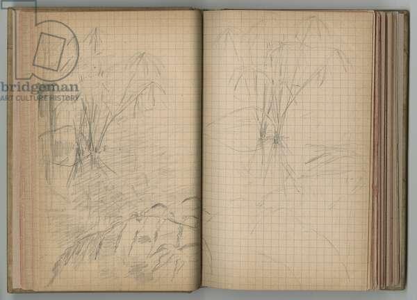 Landscape, from a sketchbook, 1885, 1887-88 (pencil on paper)