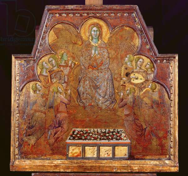 Virgin Surrounded by Angels (tempera & gold on panel)