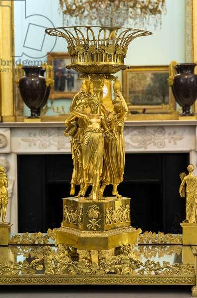 Ornamental centrepiece for Prince Lucien Bonaparte, 1810-14 (gilt bronze)