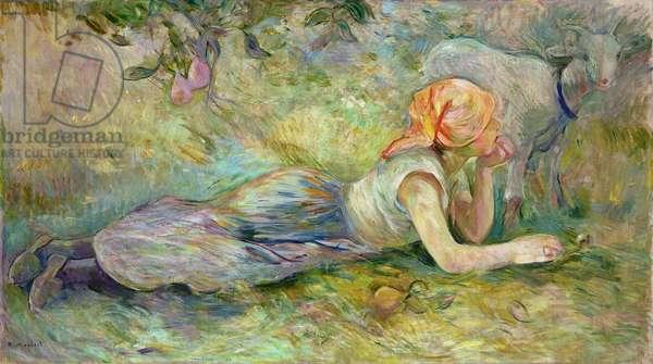 Shepherdess Resting, 1891 (oil on canvas)