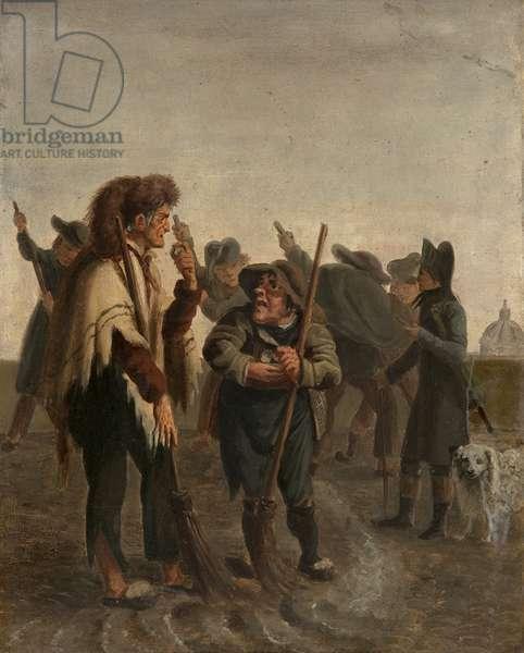 Peasants (oil on cardboard)