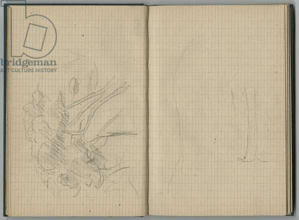 Landscape, from a sketchbook, 1888-89 (pencil on paper)