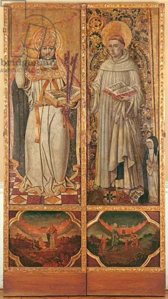 St. Peter and St. Bernard (oil & gilding on panel)