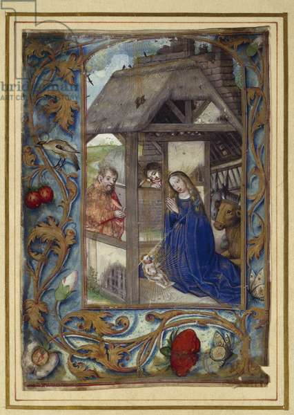 Nativity, from a book of Hours (vellum)